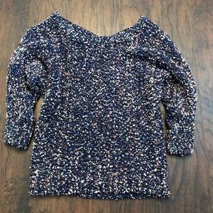Jessica Simpson Blue Pink Sparkle Sweater Size S
